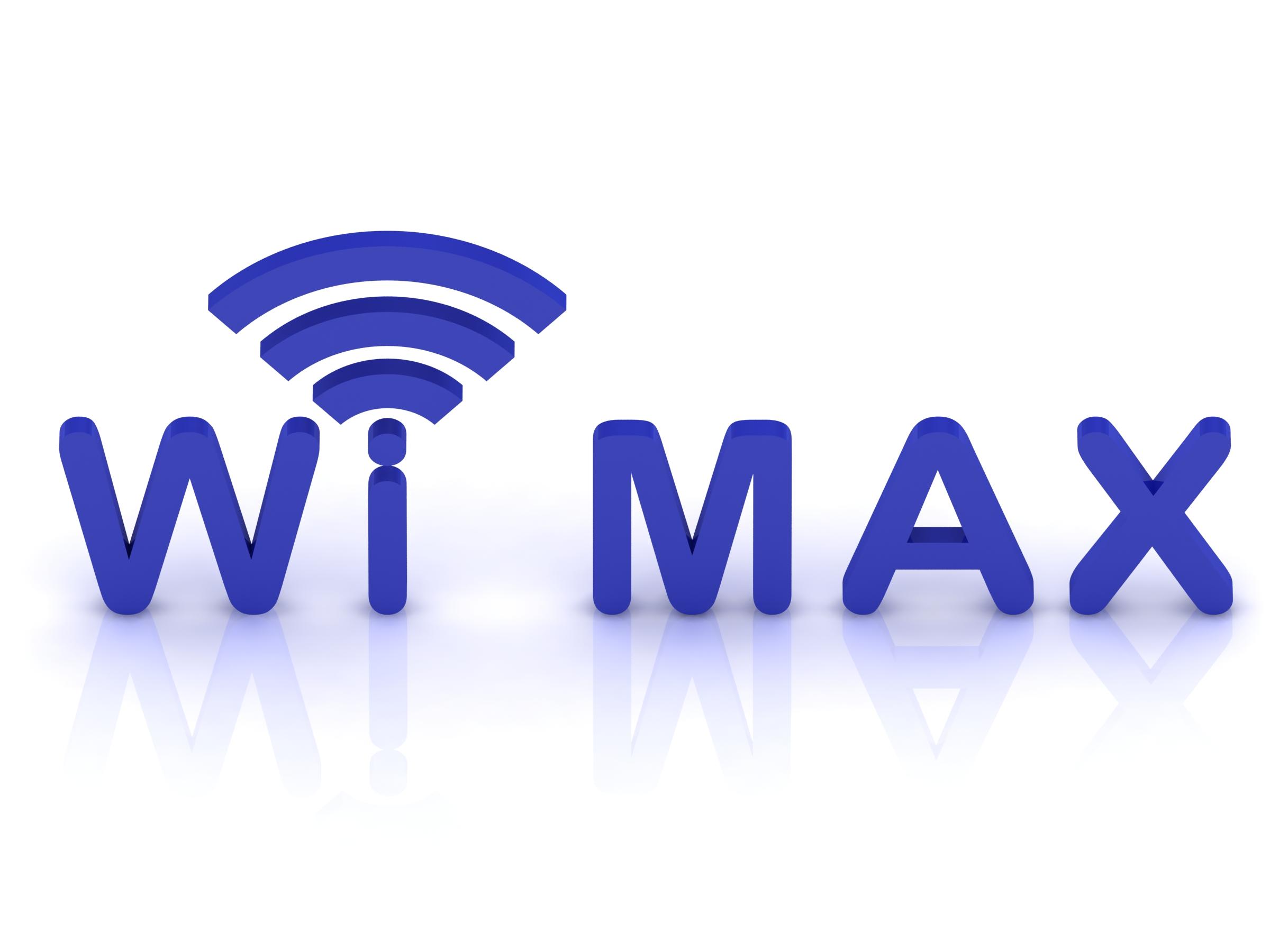 Wi MAX logo, 3D render image